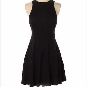 silence + noise black backless mini dress 2
